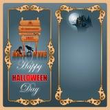 Halloween, świętowania tło Zdjęcia Royalty Free