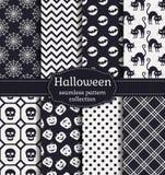 halloween делает по образцу безшовное вектор комплекта сердец шаржа приполюсный Стоковые Фотографии RF