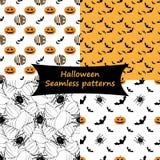 halloween делает по образцу безшовное Коллекция Стоковое Изображение