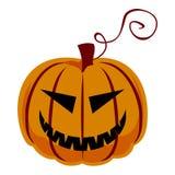 halloween изолировал белизну тыквы Стоковые Изображения RF