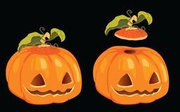 halloween изолировал вектор тыквы Стоковое Изображение RF
