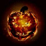 halloween Огонь тыквы сладостный фонарик 3d изолированный предпосылкой представляет белизну Стоковое Изображение RF