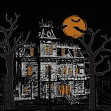 halloween преследовал дом Стоковое Изображение