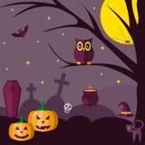 halloween плоско иллюстрация штока