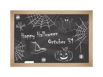 halloween счастливый Чертежи мела на классн классном Стоковая Фотография RF