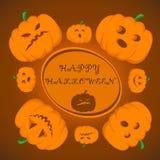 halloween счастливый Иллюстрация вектора для торжества Плакат, открытка, знамя, предпосылка Стоковые Фото
