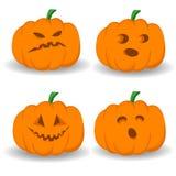 Halloween установил с тыквами Стоковые Фото