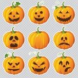 Halloween установил с тыквами Стоковое Изображение RF