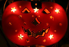 Halloween 1. Backlighted pumpkin for halloween in orange Royalty Free Stock Images