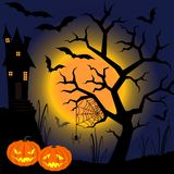 Halloween. Lunar dark night of a holiday of a Halloween Stock Photography