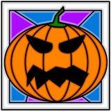 Halloween. An illustration of a pumpkin Stock Image