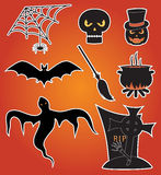 Halloween. Eight icons for Halloween, illustration Royalty Free Stock Image