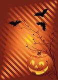 Halloween. Vector illustration with pumpkin Royalty Free Stock Image