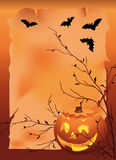 Halloween. Vector illustration with pumpkin Royalty Free Stock Images