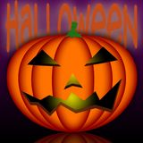 Halloween. An illustration of a Halloween's pumpkin Royalty Free Stock Images