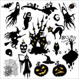 Halloween. Set of  illustrations. halloween scary theme