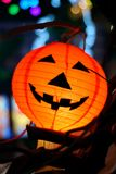 Halloween. Lantern at the night Stock Photos