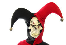 Halloween. Evil jester on a white background Royalty Free Stock Image