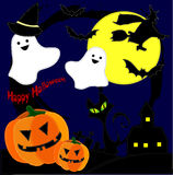 Halloween. Character and background material on Halloween night Stock Illustration