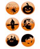 иконы halloween Стоковые Изображения RF