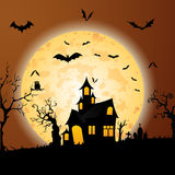 Halloween. A halloween night themed illustration. An additional Vector .Ai file available. (you can use elements separately royalty free illustration