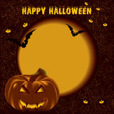 Halloween. Pumpkin background.  night Stock Images