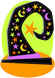 Поздравительная открытка Halloween шлема ведьмы Стоковая Фотография