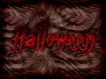 Halloween. Text halloween on a background written with blood Royalty Free Stock Photo