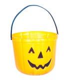 Ведро тыквы Halloween стоковая фотография