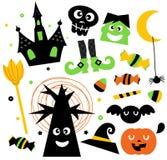 Комплект элементов Halloween Стоковое Изображение RF