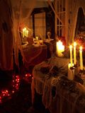 Halloween 2oo4 - o2. Halloween 2oo4 haunted house set up Royalty Free Stock Image