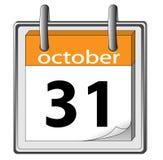 Halloween. 31 October. Calendar icon - Halloween. 31 October Royalty Free Stock Photos