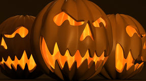 Halloween. Illustration of 3D pumpkin carved for Halloween Royalty Free Stock Image