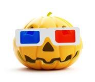 Halloween 3D movie. On a white background Stock Photos