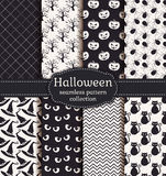 halloween делает по образцу безшовное вектор комплекта сердец шаржа приполюсный Стоковые Фото