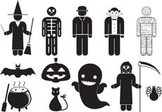 halloween vektor illustrationer