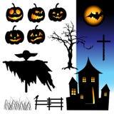 ноча halloween элементов Стоковое Изображение RF