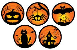 стикеры halloween Стоковые Изображения RF