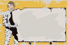 Человек обернутый в туалетной бумаге halloween счастливый Стоковая Фотография