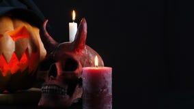 Halloween Abóbora, crânio, vela, bruxa Zorra da câmera filme