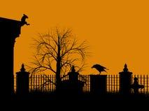 Halloween-Abbildungschattenbild Lizenzfreie Stockbilder