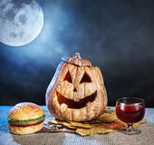 Halloween-Abendessen lizenzfreies stockbild