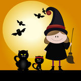 Halloween. Abstract halloween background with special objects royalty free illustration