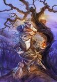 Halloween-achtergrond Royalty-vrije Stock Afbeeldingen