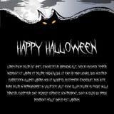 Halloween-Achtergrond - Enge Vliegende Knuppel bij Nacht in de Duisternis Stock Afbeelding