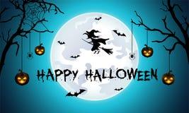 Halloween-achtergrond met begraafplaats, knuppels en kasteel Royalty-vrije Stock Foto's