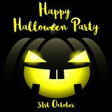 Halloween-achtergrond met Gelukkige Halloween-Partijteksten vector illustratie