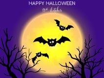 Halloween-achtergrond met Gelukkige Halloween-teksten vector illustratie