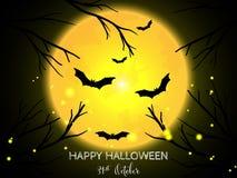 Halloween-achtergrond met Gelukkige Halloween-teksten stock illustratie