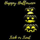 Halloween-achtergrond met Gelukkige Halloween-teksten royalty-vrije illustratie